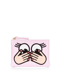 Pink Eyes Zip Top Purse | New Look