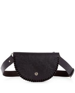 Black Leather-Look Purse Belt | New Look