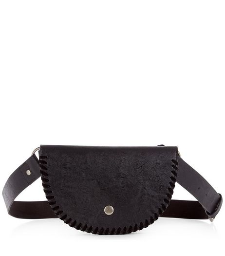 Black Embellished Purse Belt  | New Look