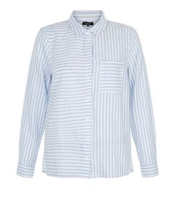 Petite White Stripe Pocket Shirt | New Look