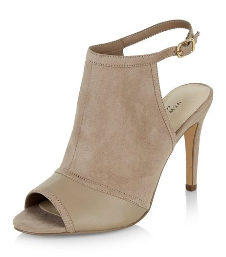 Light Brown Comfort Colour Block Sling Back Heels  | New Look