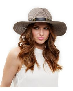 Grey Oversized Buckle Trim Fedora | New Look