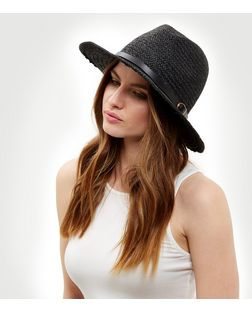 Black Belt Buckle Trim Fedora  | New Look