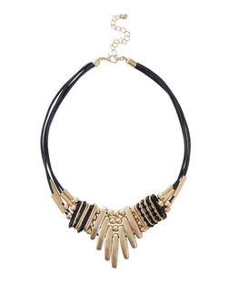 Black Rope Beaded Necklace | New Look