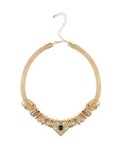 Gold Ring Pentagon Necklace | New Look