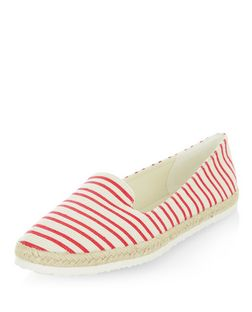 Red Stripe Espadrilles | New Look