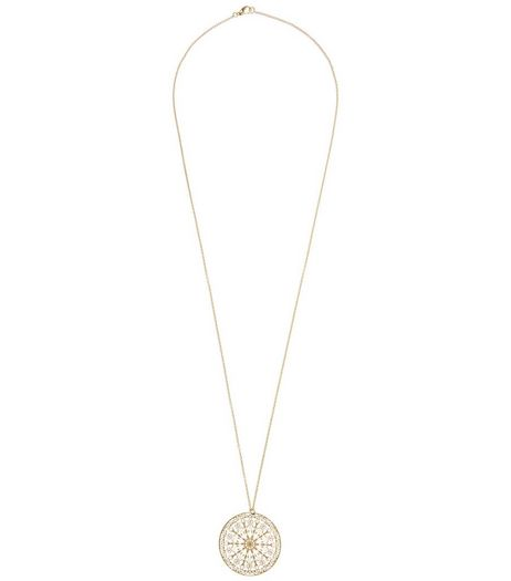 Gold Filigree Disc Necklace | New Look