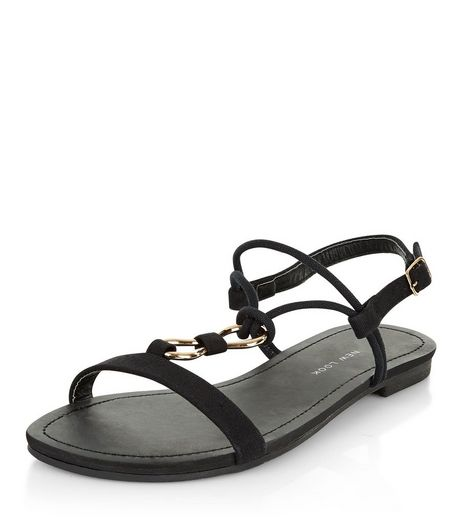 Teens Black Rope Strap Sandals | New Look
