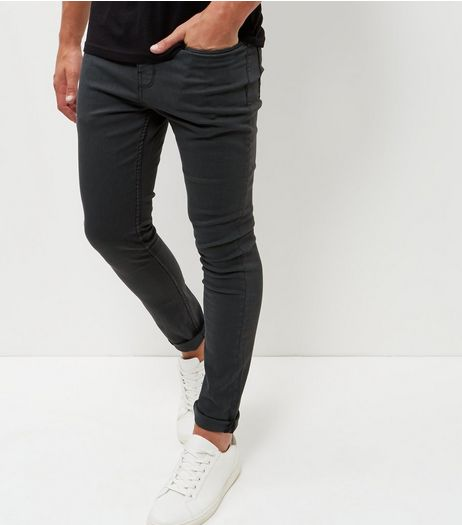 Dark Grey Skinny Trousers  | New Look