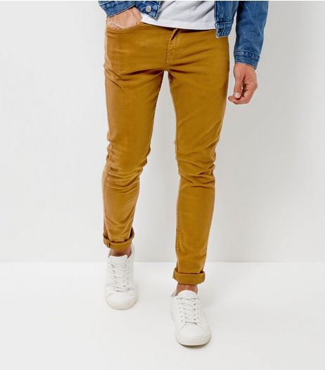 Camel Skinny Stretch Chinos  | New Look