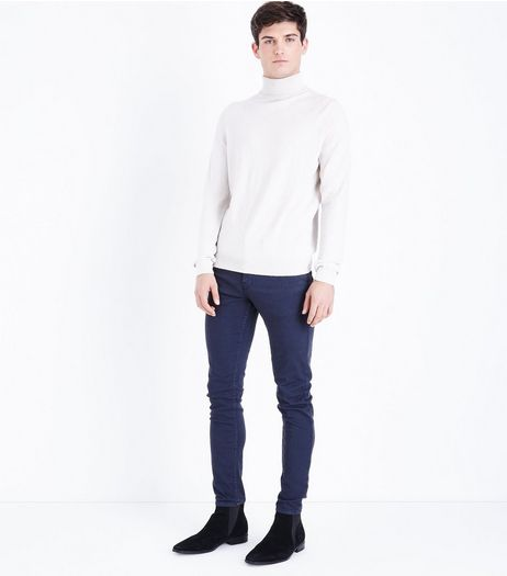 Navy Skinny Trousers  | New Look
