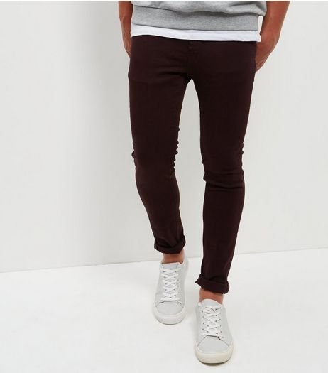 Burgundy Skinny Trousers | New Look