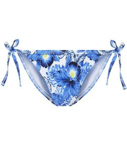Blue Tropical Print Bikini Bottoms | New Look
