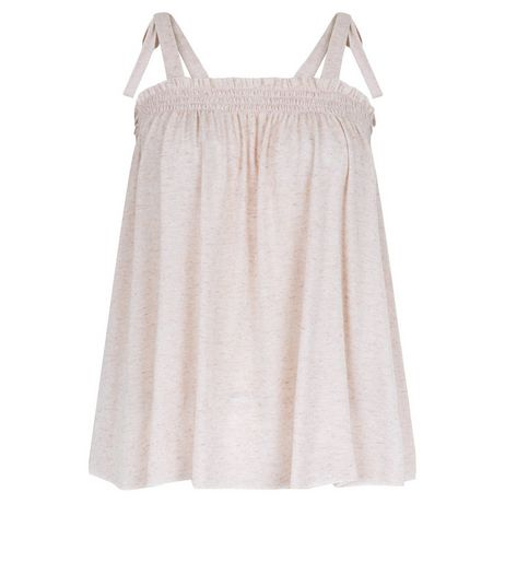 Mid Pink Tie Strap Cami | New Look