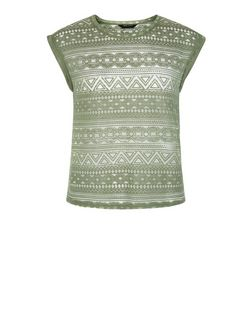 Teens Mint Green Aztec Print T-Shirt | New Look
