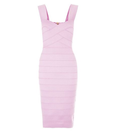 Lilac Bandage Bodycon Midi Dress  | New Look