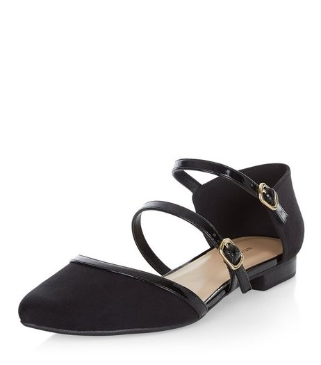 Black Multi Strap Pumps  | New Look