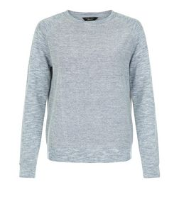 Teens Blue Fine Knit Textured Sweater | New Look