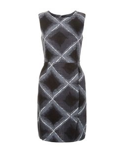 Tenki Black Geo Print Wrap Front Dress | New Look