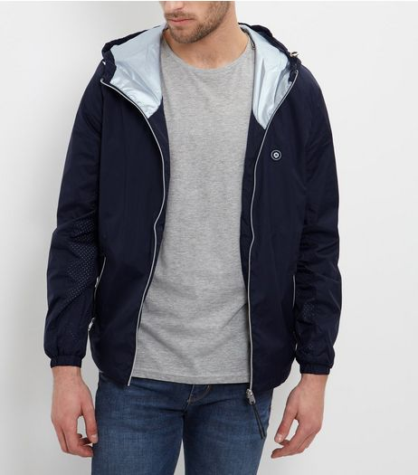 Jack and Jones Black Lightweight Hooded Jacket  | New Look