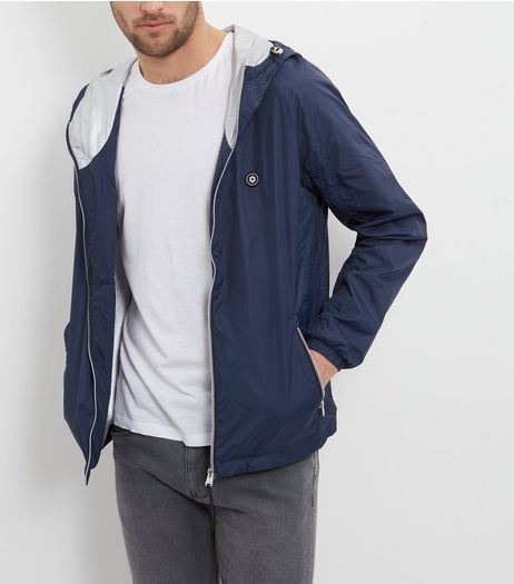 Jack and Jones Blue Lightweight Hooded Jacket  | New Look