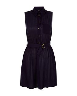 Teens Navy D-Ring Belted Shirt Dress | New Look