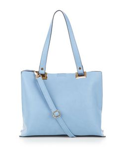 Pale Blue Shopper Bag  | New Look