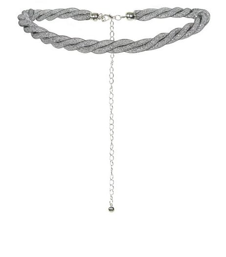 Black Mesh Bead Chain Belt  | New Look