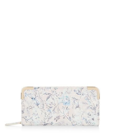 Pink Floral Print Zip Around Purse  | New Look
