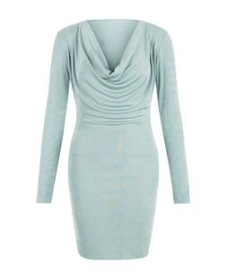 Blue Vanilla Mint Green Cowl Neck Bodycon Dress | New Look