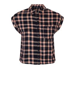 Teens Pink Check Front Pocket Shirt  | New Look