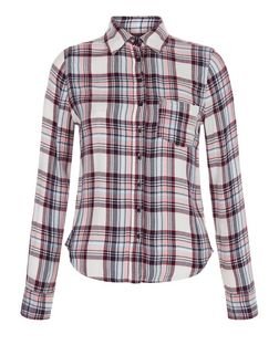 Teens White Check Long Sleeve Shirt | New Look