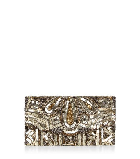 Gold Embellished Clutch  | New Look