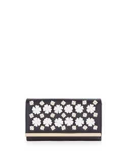 Monochrome 3D Floral Embellished Purse  | New Look