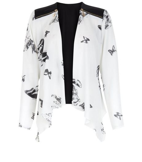Cameo Rose Black Butterfly Print Kimono | New Look