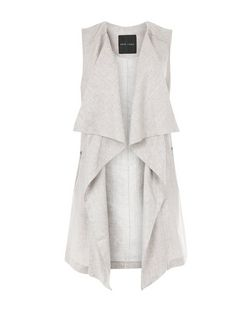 Mink Waterfall Sleeveless Jacket | New Look