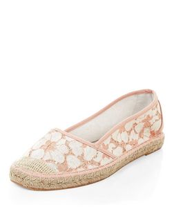 Pink Lace Espadrilles  | New Look