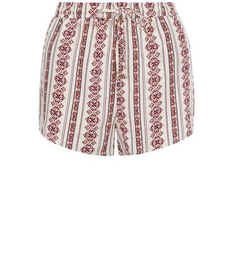 White Folk Print Runner Shorts  | New Look