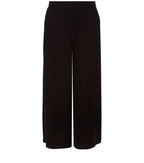Black Elasticated Back Culottes  | New Look