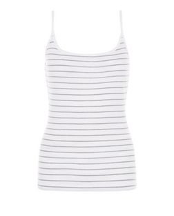 White Stripe Cami  | New Look