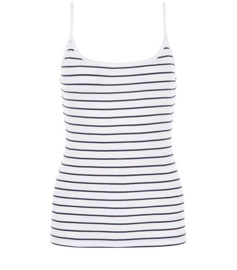 Blue Stripe Cami  | New Look