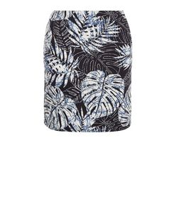 Blue Jungle Print Tube Skirt  | New Look