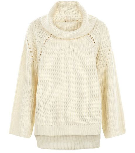 Blue Vanilla Cream Cowl Neck Jumper  | New Look
