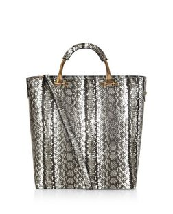 Black Snakeskin Print Shoper Bag  | New Look