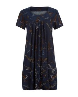 Blue Vanilla Navy Hummingbird Print Tunic | New Look