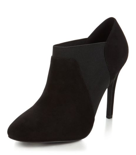 Black Suedette Chelsea Shoe Boots  | New Look