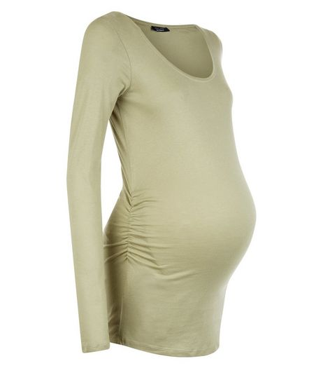 Maternity Olive Green Long Sleeve Top | New Look