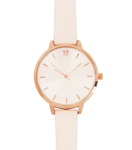 Mid Pink Leather-Look Strap Watch | New Look