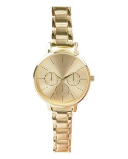 Gold Skinny Strap Sports Watch  | New Look