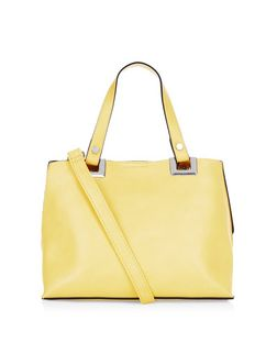 Yellow Mini Shopper Bag  | New Look